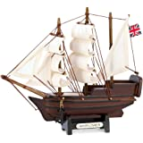 Gifts & Decor Historical Nautical Decor Mini Mayflower Ship Model Collectible