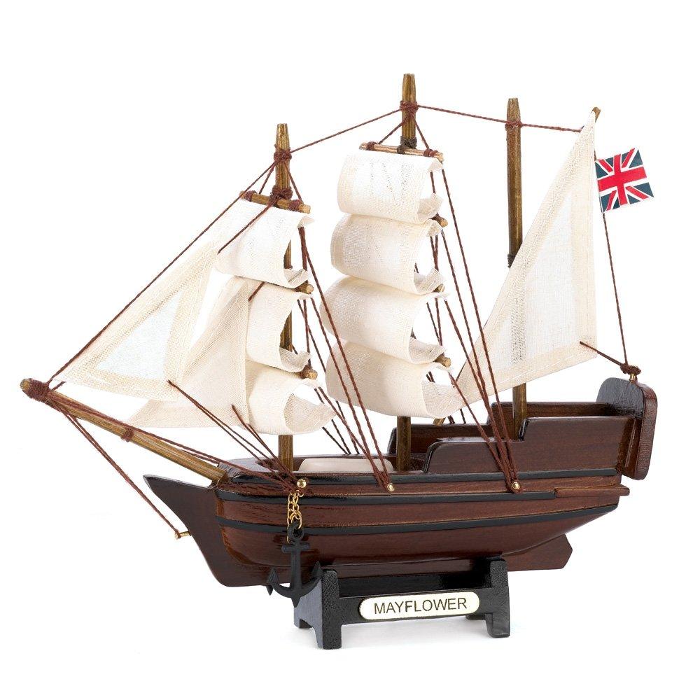 Gifts & Decor 14750 Mini Mayflower Ship Model, Multicolor