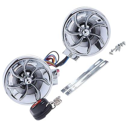 H HILABEE Sistema De Audio Para Motocicletas-Amplificador De ...