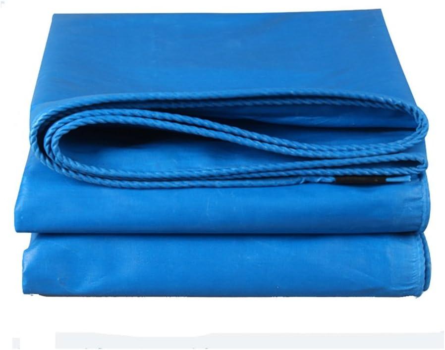 防水布ポリ塩化ビニールの防水シートの防水シート屋外の防水日焼け止めの防水シートの日よけの日除けの布 (Color : BLUE, Size : 2*4M)