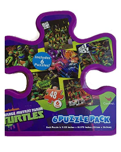 Amazon.com: TMNT Teenage Mutant Ninja Turtles 6 rompecabezas ...