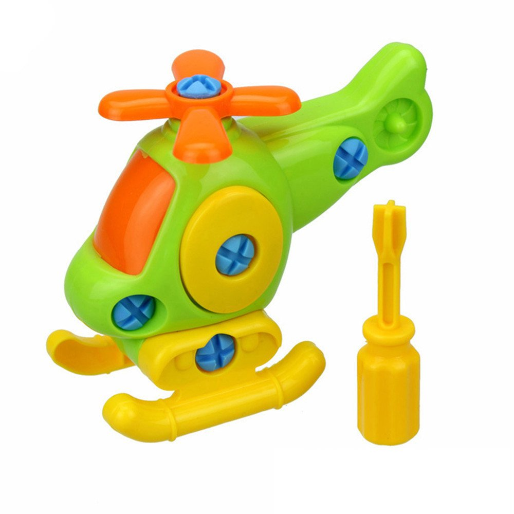 Gaweb Kids Baby Early Learning Airplane Disassembly Assembly Puzzle Educational Toys Children DIY Train Toy