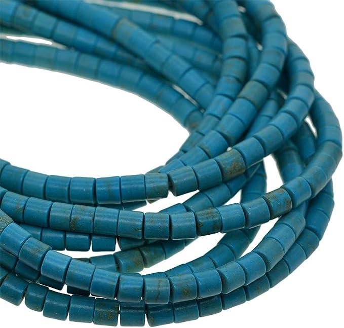 non-brand Perle di Perline Sparse Turchesi Creazione di Gioielli Distanziati di Blu Turchese 1.2mm Perle di Tubo 4x4mm