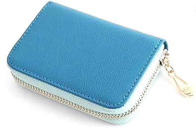 2fc8d7de233e レディース 財布 小銭入れ カードケース 可愛い パステルカラー 5色バリエーション (青)