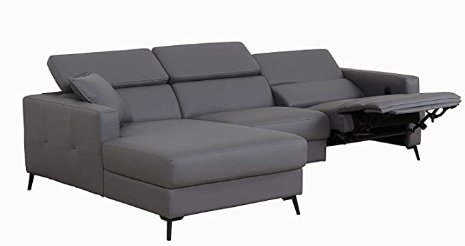 Amazon.com: Dellamo Modern Sectional Sofa with Electrical ...