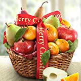 Golden State Fruit Orchard Favorites Gift Basket, Merry Christmas