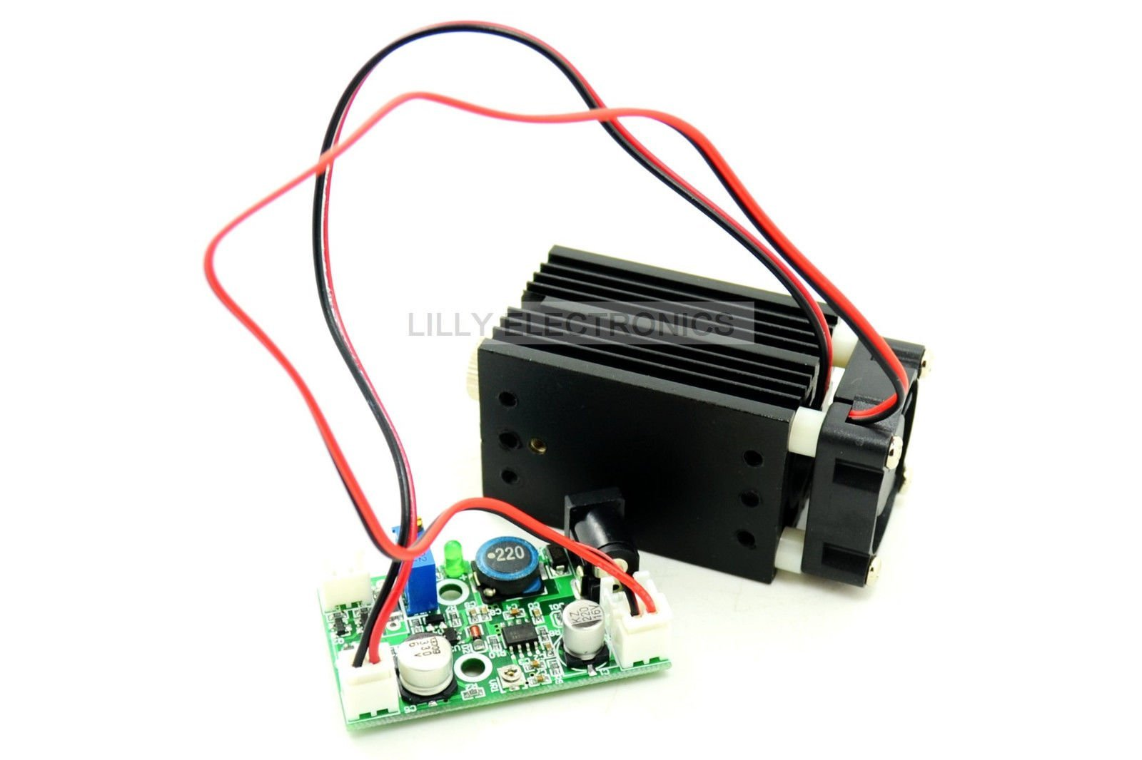 Q-BAIHE Focusable 450nm 2W 2000mw Blue Dot Laser Module W/Driver +TTL 5V for Wood Carving