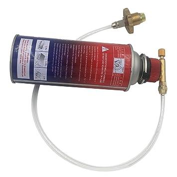 Lorenlli Tanque de Gas de la Estufa de Gas de la casa estándar Alemana al Cilindro Plano Accesorios de la válvula del Adaptador de Recarga del Tanque: ...