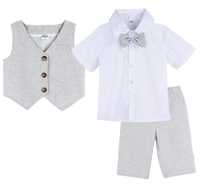 Amazon.com: A&J DESIGN - Traje de caballero para bebé y niño ...