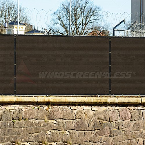 8' x 55' Privacy Fence Screen in Beige Tan with Brass Grommet 85% Blockage Windscreen Outdoor Mesh Fencing Cover Netting Fabric - Custom Size Available by Windscreen4less (Image #5)