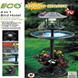 "42"" -""SOLAR MAGIC"" 4 IN 1 BIRD HOTEL (SOLAR LIGHT, BIRD BATH, FEEDER AND PLANTER!)"