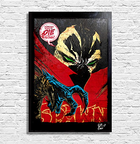 Spawn Image Comics (Todd McFarlane) - Pop-Art Original Framed Fine Art Painting, Image on Canvas, Artwork, Movie Poster, - Comic Art Spawn