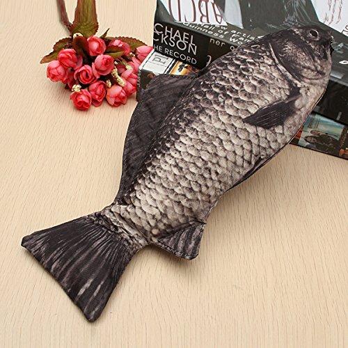Caveen Fish Like Pencil Case Pen Box Holder Zipper Pouch Coin Purse Cosmetic Bag Photo #5