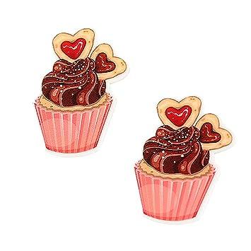 Sweet Heart Chocolate resina Planar Cabochons Flatback Craft for DIY broche pelo arco accesorios 20pcs 38 x 27 mm: Amazon.es: Juguetes y juegos