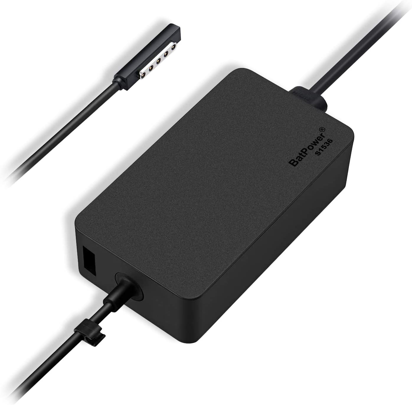 Batpower 12V 3.6A 48W Charger for Microsoft Surface RT Surface Pro 1 Pro 2 and Surface 2 Tablet Ac Adapter 1512 1516 1536 Power Supply Cord with 5V USB Charging Port with US Extension Cord