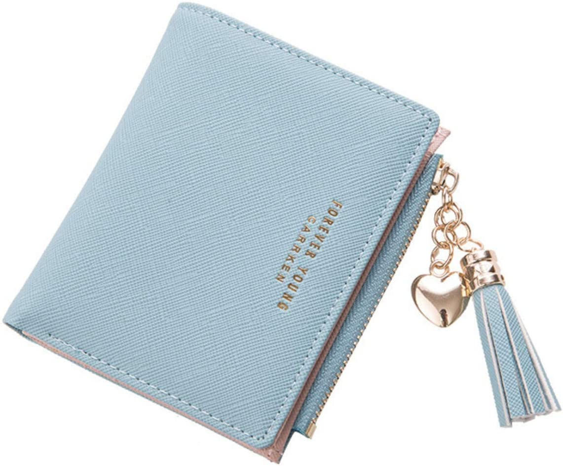 Stylish  Women/'s  Wallets with new zipper little girl/'s purse sturdy leather