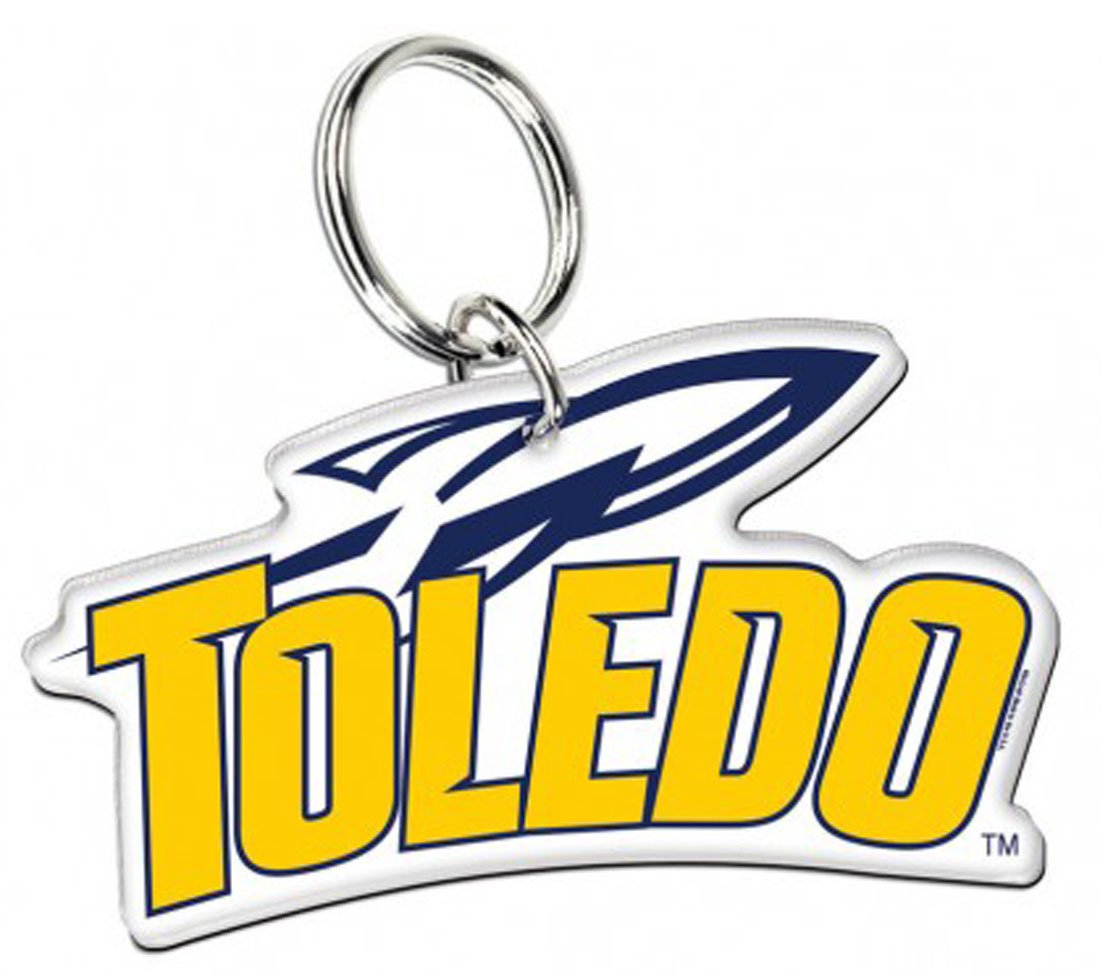 Toledo Rockets Lanyard with Safety Breakaway Clasp and Key Ring Gift Set