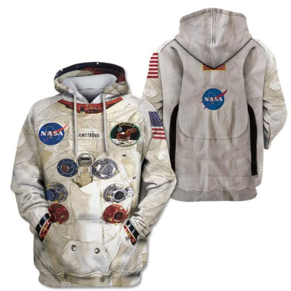 Sudadera con Capucha, chándal Espacial NASA Serie Hombre 3D ...