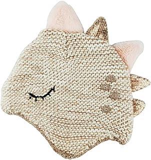 FERZA home Cappello da sci Caldo Cappellino lavorato a mano Dinosaur Pattern Design Berretto a maglia per bambini Boy And Girl Cartone animato Cappello Cuffia per protezione orecchie Cappello per bebè