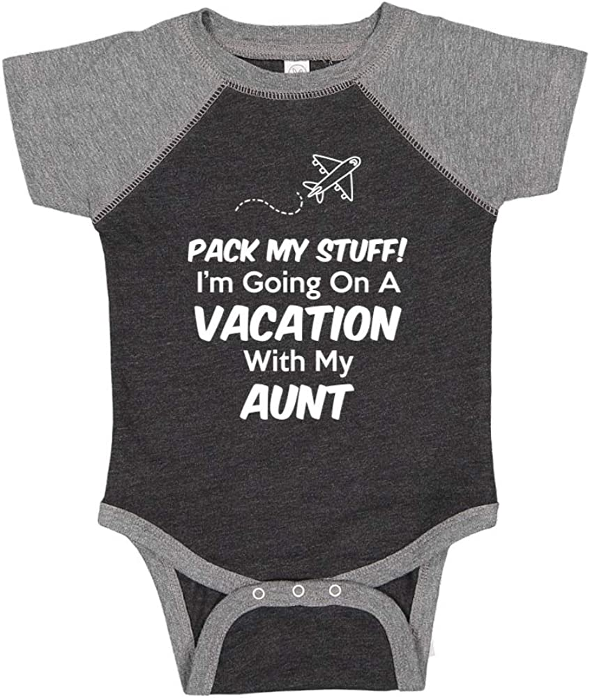 Im Going On Vacation with My Great-Aunt Pack My Stuff Toddler//Kids Raglan T-Shirt