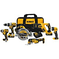DeWalt 20V MAX XR Lithium-Ion Brushless Cordless 6-Tool Combo Kit