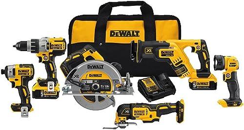 DEWALT 20V MAX XR Brushless Combo Kit, Premium 6-Tool DCK694P2