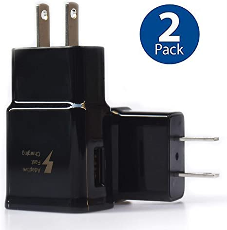 Adaptive Fast Charging Wall Charger Adapter Compatible Samsung Galaxy S6 S7 S8 S9 / Edge/Plus / Active, Note 5,Note 8, Note 9, EP-TA20JBE Quick Charge ...