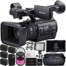 "Sony PXW-Z150 4K XDCAM Camcorder + Atomos Ninja Blade 5"" HDMI On-Camera Monitor & Recorder 17PC Accessory Kit. Includes 64GB SD Memory Card + SanDisk 240GB Extreme Pro Solid State Drive + 4 Replacement F970 Batteries + MORE"