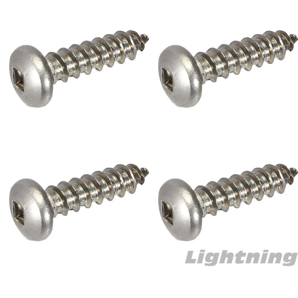 #10 x 1-1//4 Pan Head Square Drive Sheet Metal Screws Stainless Qty 50