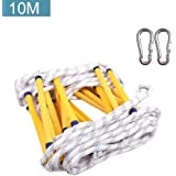 Awhao 10M Emergency Fire Escape Rope Ladder with Hook Resistant Fire Safety Ladders for Children and Adults Escape from…