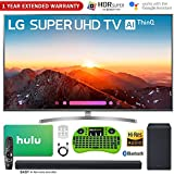 LG 55SK8000PUA 55 Class 4K HDR Smart LED AI SUPER UHD TV w/ThinQ (2018 Model) + LG SK8Y 2.1-Ch Hi-Res Audio Soundbar w/Dolby Atmos + Hulu $75 Gift Card + 1 Year Extended Warranty + More