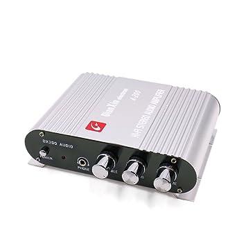sourcingmap 85dB 200W Pequeño Amplificador para Auto Coche Audio Estéreo Hi-Fi