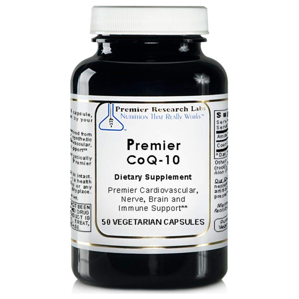Premier Research Labs CoQ-10 - Supports Cardiovascular, Nerve, Brain and  Immune Health (50