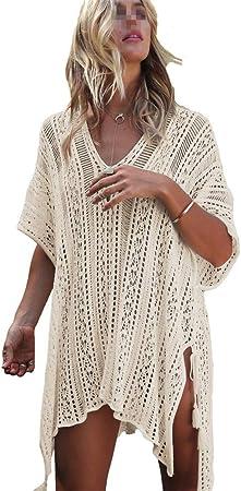 Camisa exterior de playa para mujer Traje de baño para mujer Cubierta con cuello en V