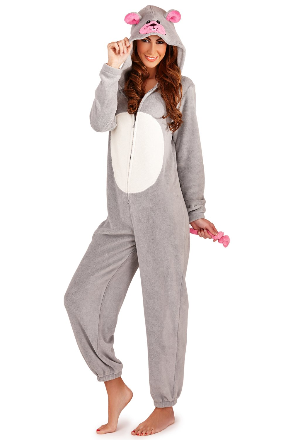 Loungeable Boutique Womens Fleece Novelty Animal All in One Onesie