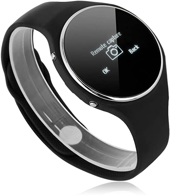 Amazon Com Excelvan Fashion Bluetooth Smart Watch Round Dial Face Smartwatch Sync Phonebook Sms Calls Music Anti Lost Remote Capture App Notifier For All Android Cell Smart Phones Tab Tablet Partial Function For Ios