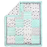 Southwest Dreams Mint Green Patchwork Crib Quilt by The Peanut Shell