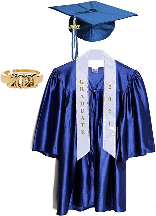 iEFiEL Kids Children Graduation Gown and Cap Tassel Sets for Nursery Academic Kindergarten and Preschool Red Set 4-5 Years