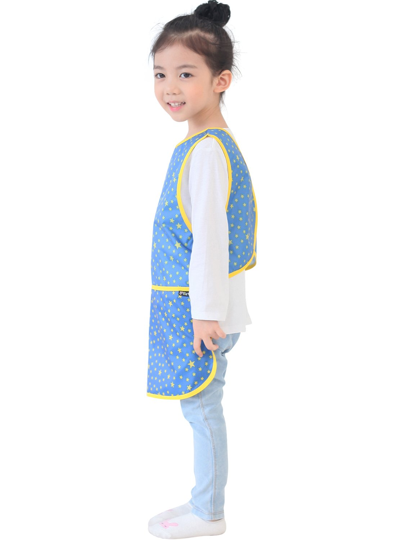 Blue Strawberry 25-M Plie Children Waterproof Sleeveless Art Smock Apron with Pockets