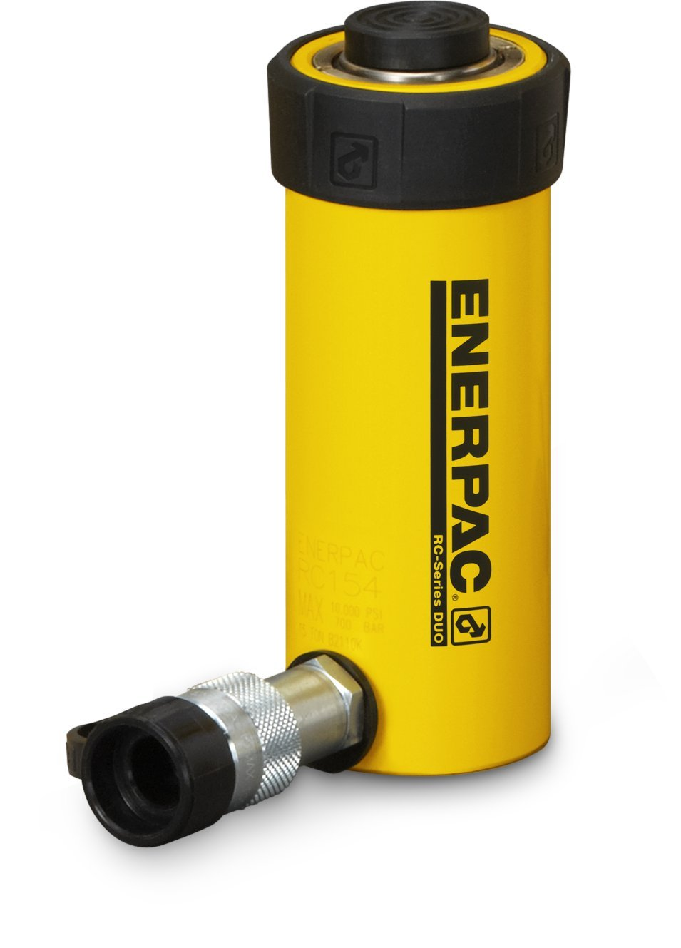 Enerpac RC-102 Single-Acting Alloy Steel Hydraulic Cylinder with 10 Ton Capacity, Single Port, 2.13'' Stroke