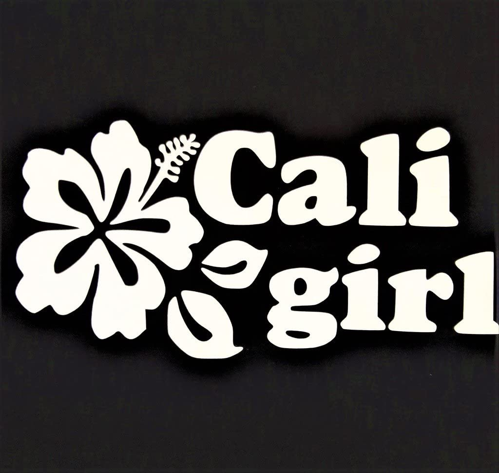 "Chase Grace Studio California Girl Cali Girl West Coast Vinyl Decal Sticker|White|Cars Trucks Vans SUV Laptops Wall Art|7"" X 3.5""|CGS463"