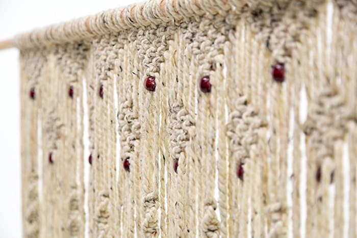 Amazoncom Hand Woven Macrame Door Hanging Room divider Beaded