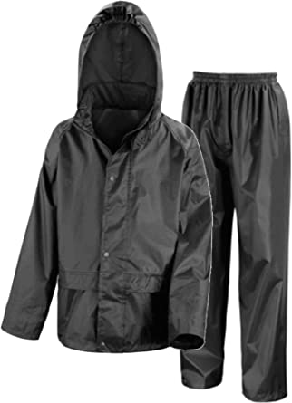 e2ded290ce442 Kids Waterproof Jacket & Trousers Suit Set in Black, Navy Blue or Royal  Blue Childs