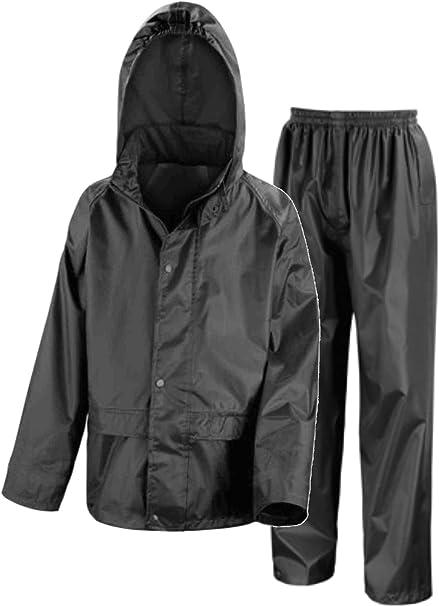 57d9a161cbb Kids Waterproof Jacket   Trousers Suit Set in Black
