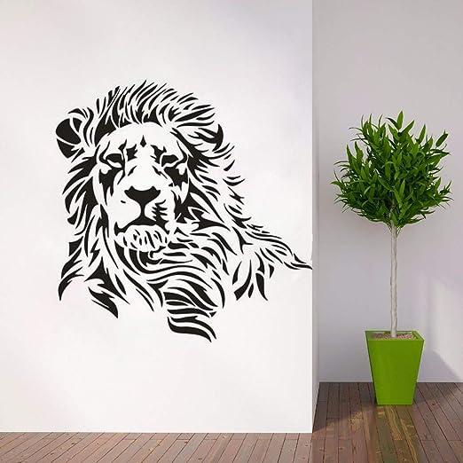 jiuyaomai Pegatinas de Pared de Silueta de león Diseño depredador ...