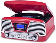 Vitrola Red com CD, FM, SD, USB e Bluetooth, Bivolt, Raveo, Harmony BT, 10