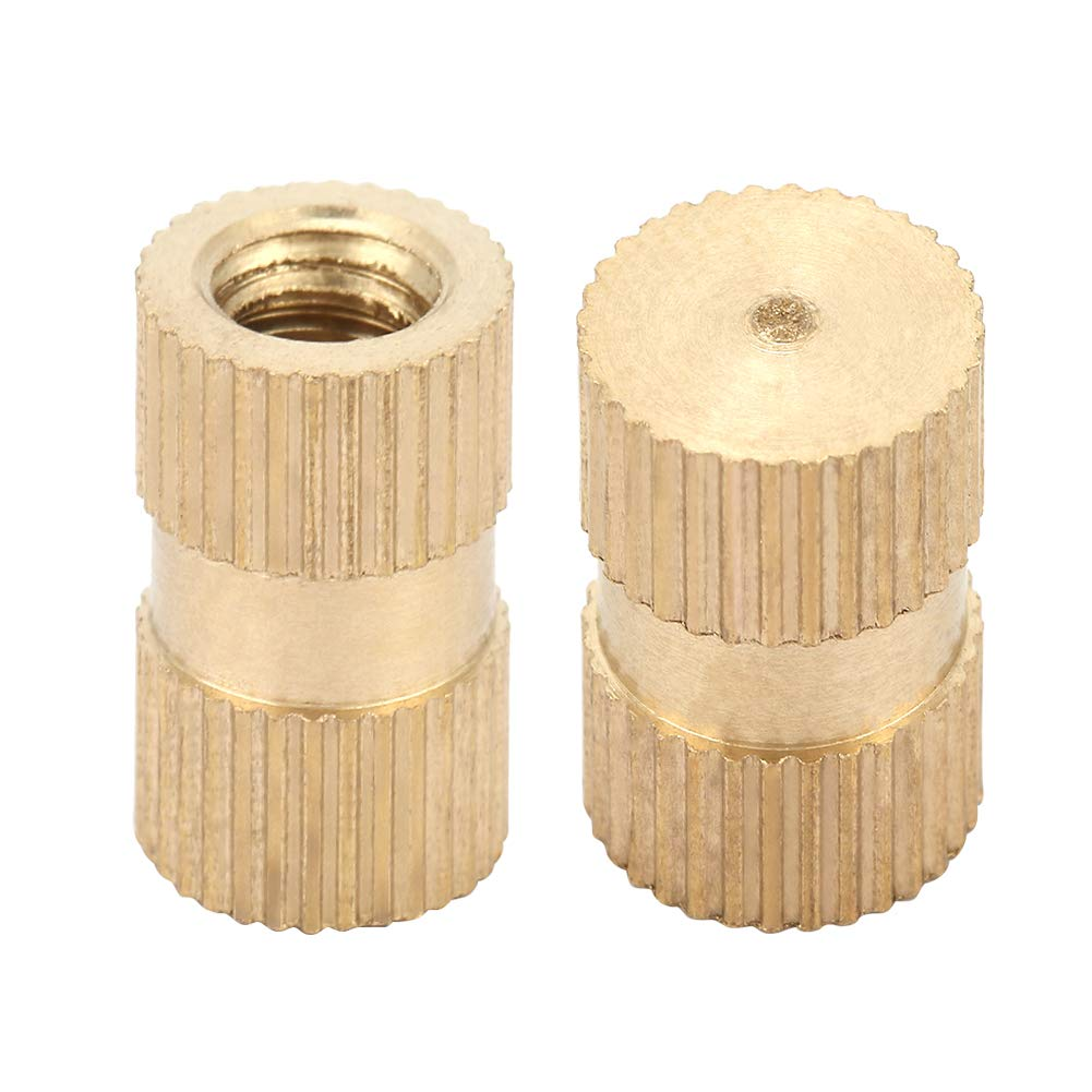 M2/×5/×3.2(100pcs) M2 Knurled Insert Nuts B Type Single Pass Through Blind Hole Brass Insert Part Embedded Brass Embedment Assortment Kit