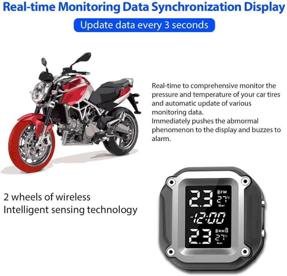 Auspilybiber New Motorrad Tpms Tire Pressure Monitoring System Motor Auto Reifen Alarm Wireless Wasserdicht Mit 2 Sensoren Für Motorcycler Astounding Auto