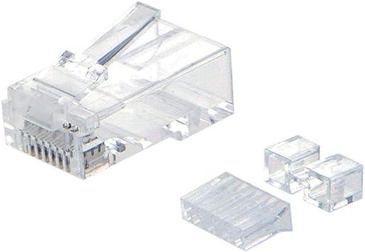 25-RJ45 CAT6 8P8C MODULAR PLUG CAT 6 2-piece solid
