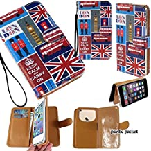 Universal PU Leather Purse/Clutch/Pouch/Wallet Fits Apple Samsung LG Motorola etc. Women's Wristlet Strap Case London Flag Big Ben Phone Booth Keep Calm and Carry On' - Small. Fits the Models below: